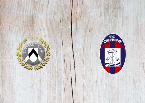 Udinese vs Crotone -Highlights 15 December 2020