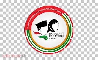 Logo Resmi Hari Santri Nasional (HSN) 2019 Santri Indonesia Untuk Perdamaian Dunia - Download Vector File PNG (Portable Network Graphics)