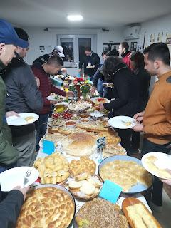 Festessen in der EMK Monospitovo, Nordmazedonien
