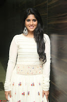 Megha Akash in beautiful White Anarkali Dress at Pre release function of Movie LIE ~ Celebrities Galleries 052.JPG