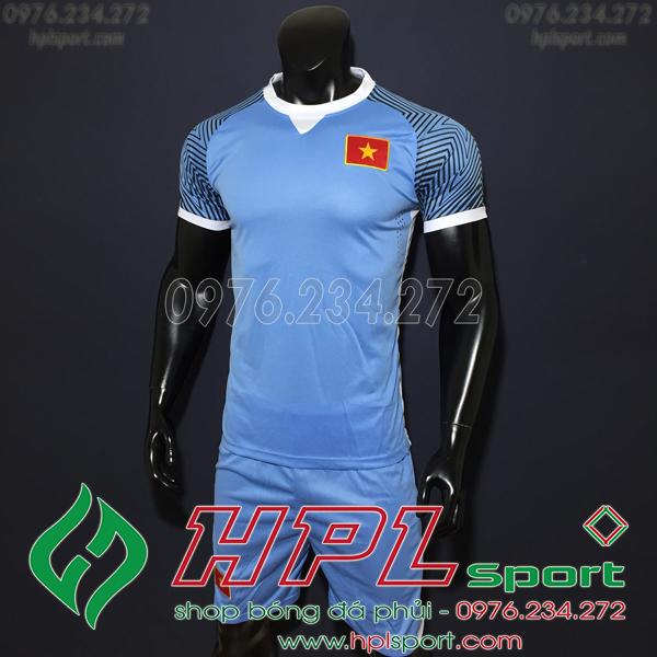 Áo bóng đá đội tuyển Việt Nam training xanh nhạt 2019