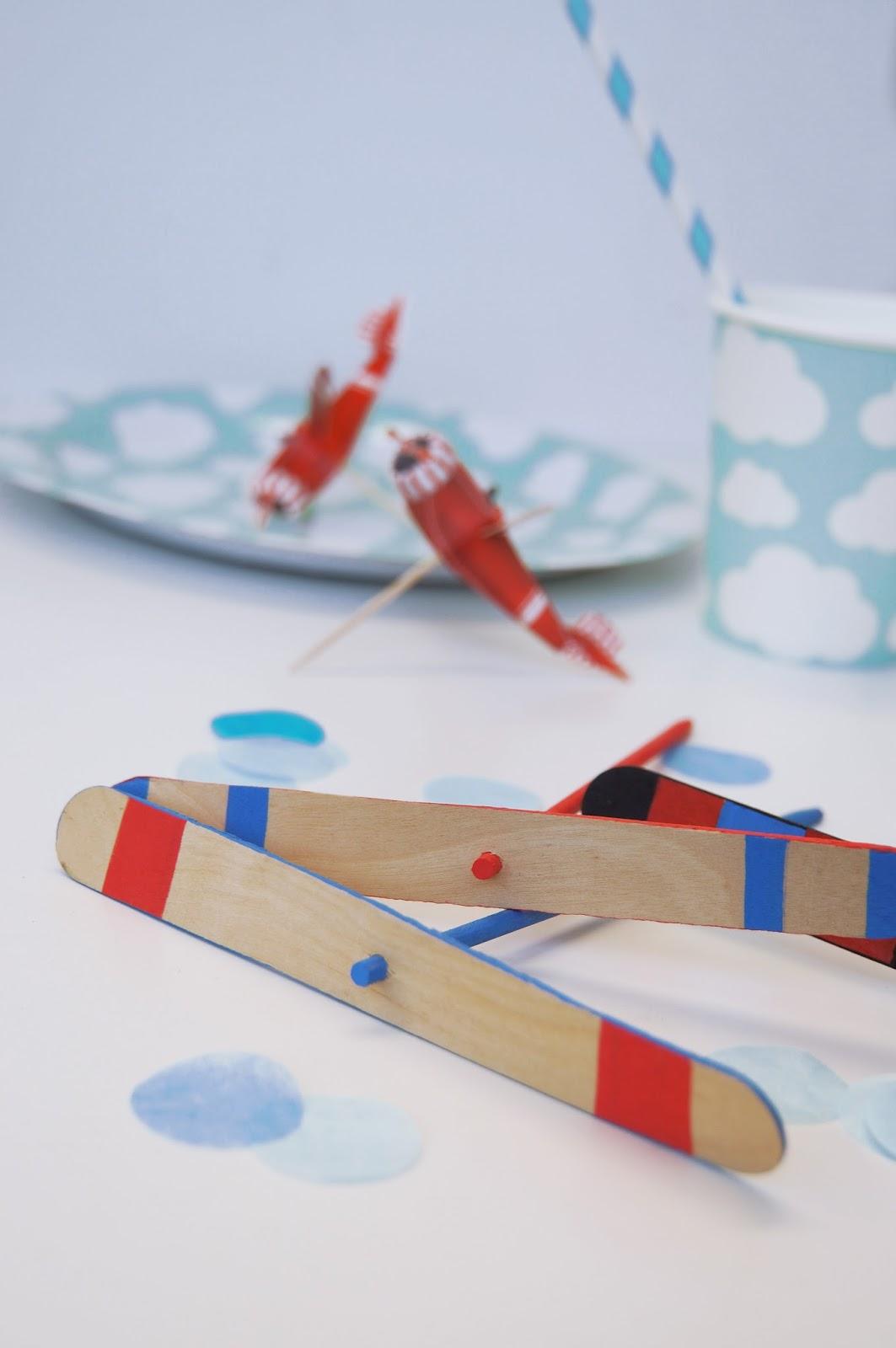 Basteln Malen Kuchen Backen Flugzeug Party