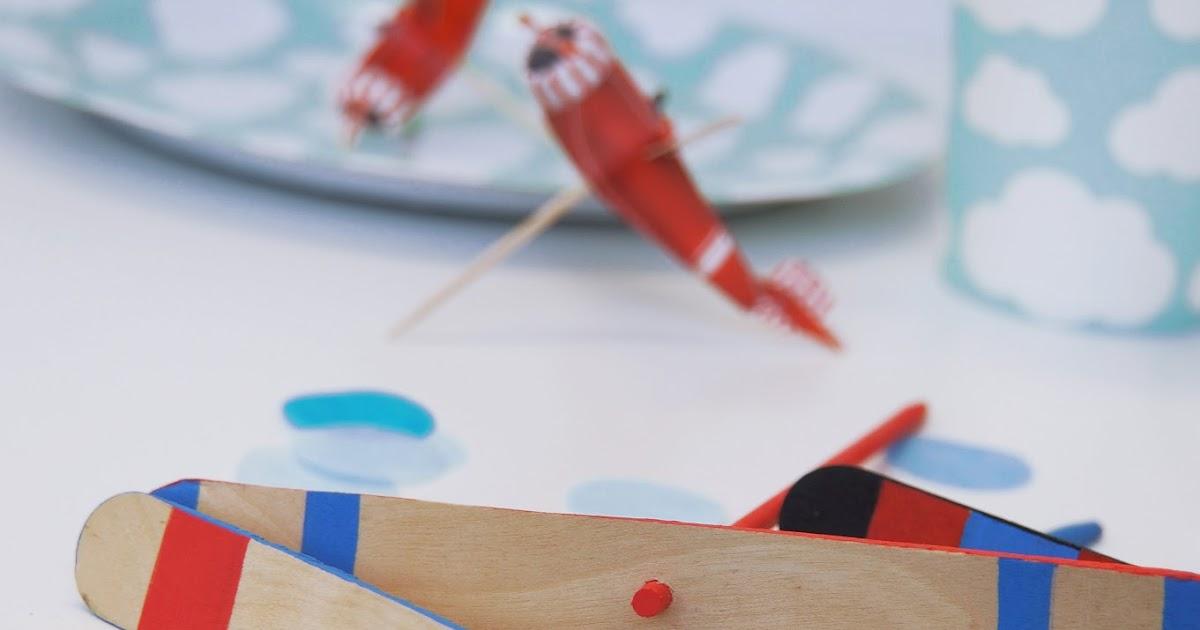 Basteln malen kuchen backen flugzeug party - Flugzeug basteln mit kindern ...