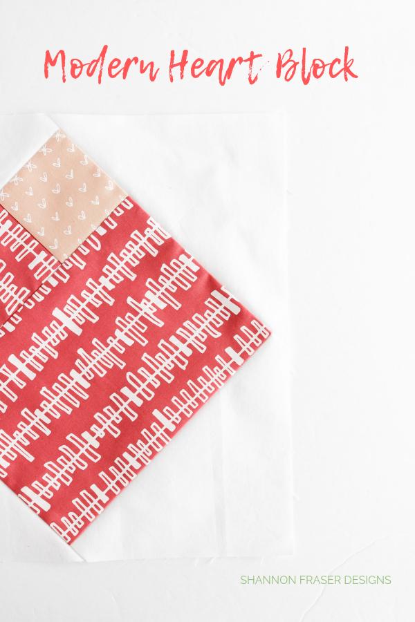 Modern heart block | Q3 Finish-a-Long 2019 | Shannon Fraser Designs #heartquilt