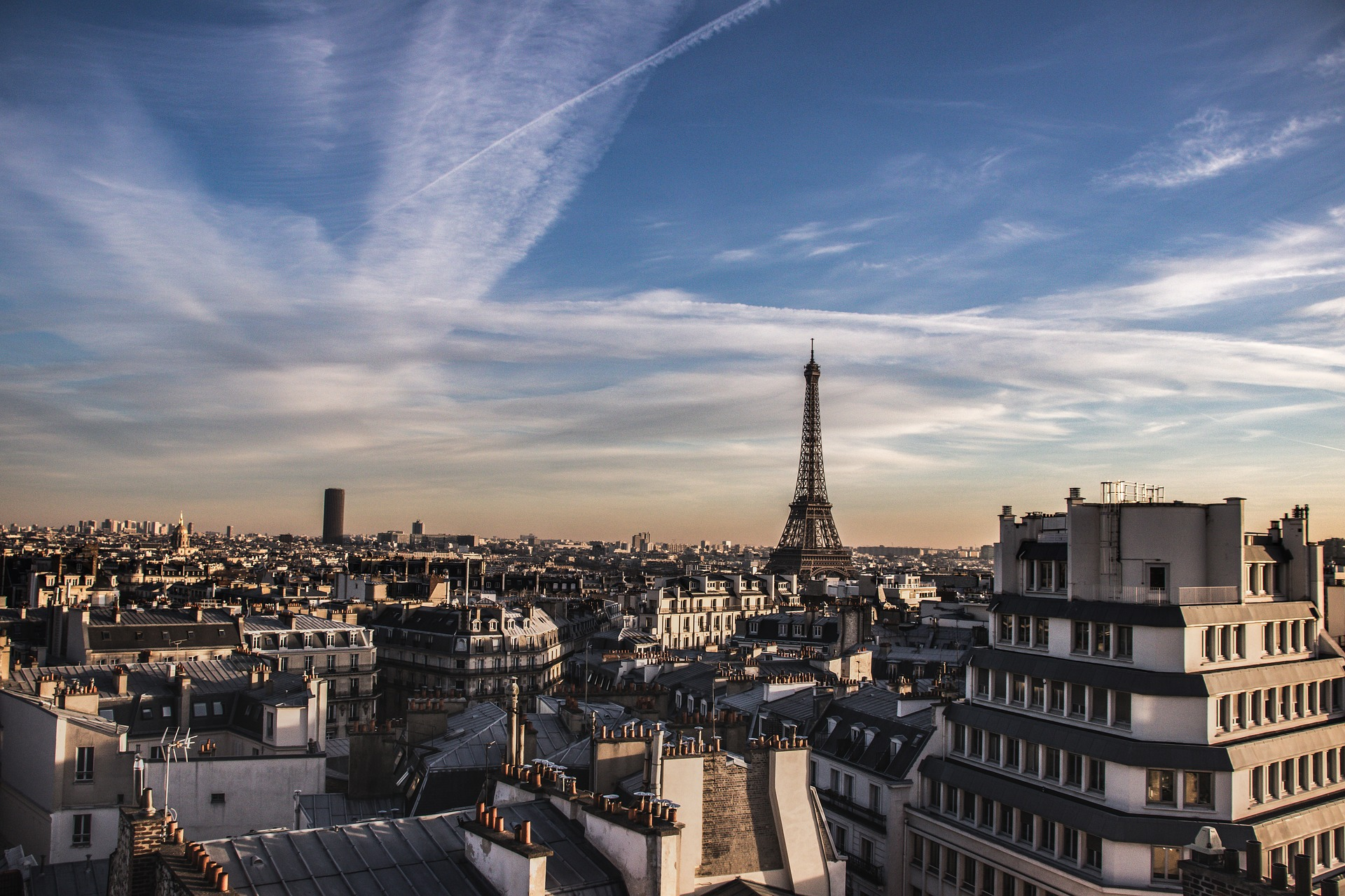 View Of Eiffel Tower from City