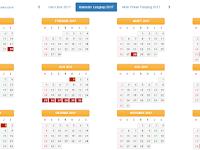 Download Kalender 2017 dilengkapi Rincian Libur Nasional dan Libur Sekolah