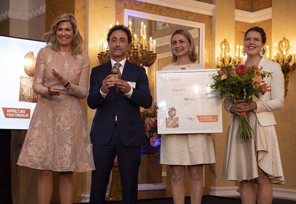 Queen Maxima wore Natan dress spring summer 2017 collection. King Willem-Alexander and Princess Beatrix