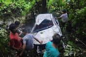 Mobil Masuk Jurang di Kumelembuai Tewaskan Pasangan Suami Istri