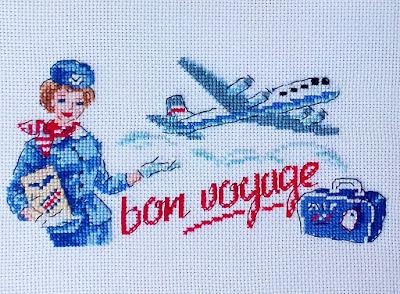 вышивка bon voyage от парижских вышивальщиц