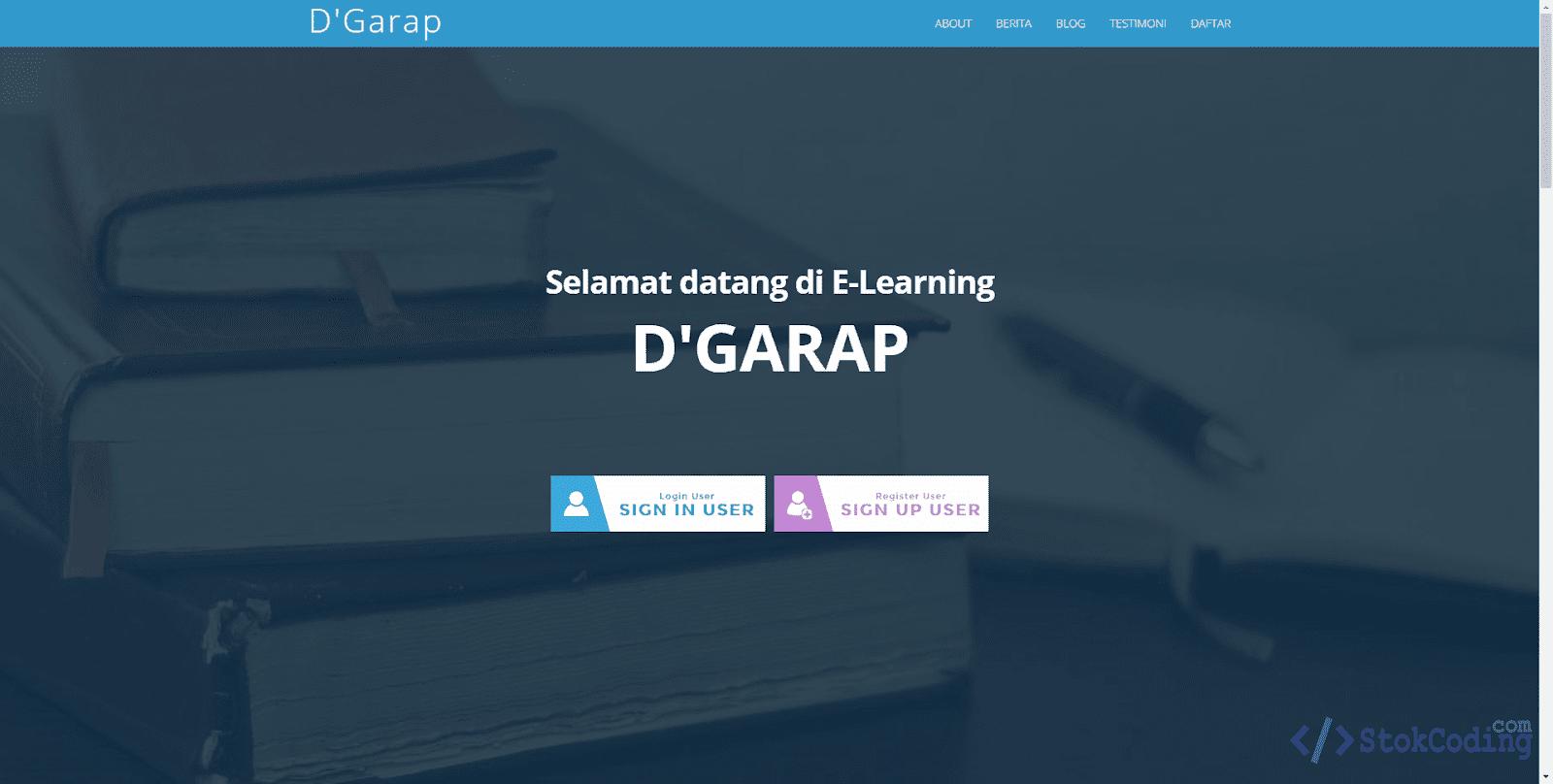 Sistem Informasi E-Learning Online (PHP)