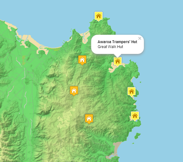 master maps: Mapping New Zealand: Clustering DOC Huts with Leaflet