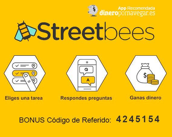 StreetBees: Una mágnifica App para ganar dinero realizando encuestas y tareas con el móvil