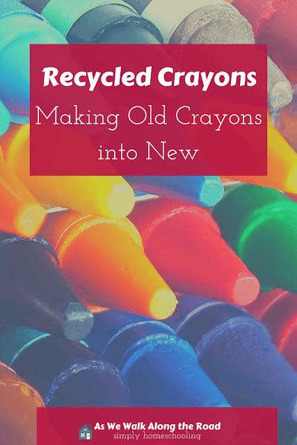 Recycled crayons craft