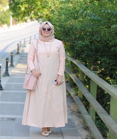 Fashion Tren Model Baju Gamis Untuk Orang Gemuk Agar Terlihat