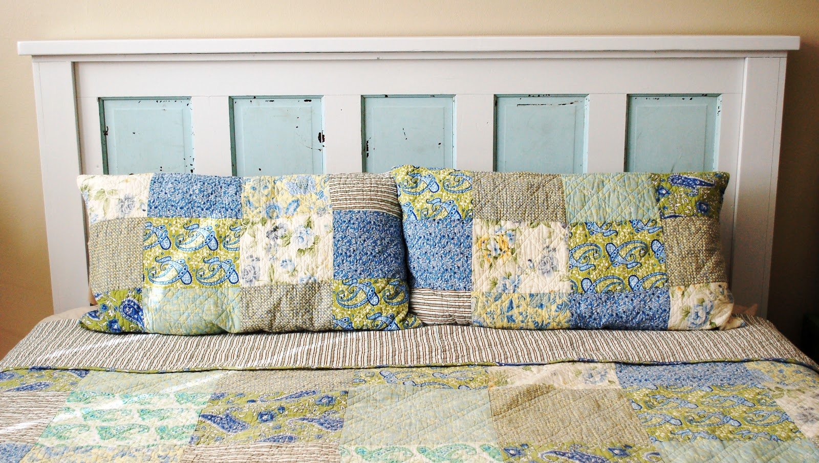Favorite Ain't She Crafty: How To Build A Headboard From An Old Door VH36