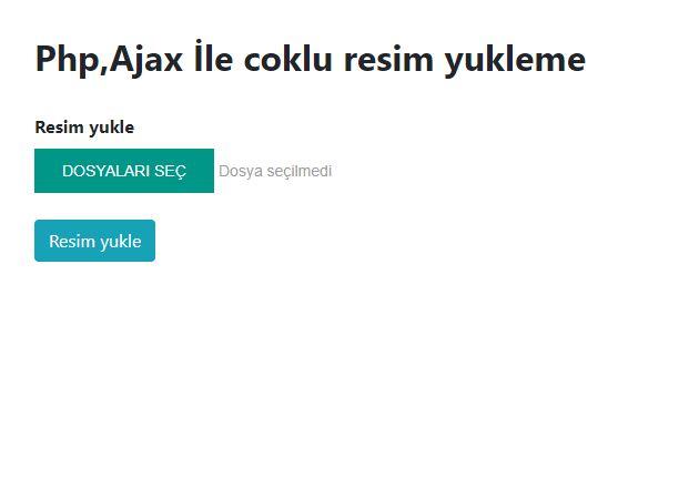 php,ajax ile coklu veri yukleme