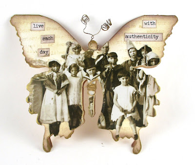 Sizzix Layered Butterfly Paper Dolls Chit Chat for the Funkie Junkie Boutique