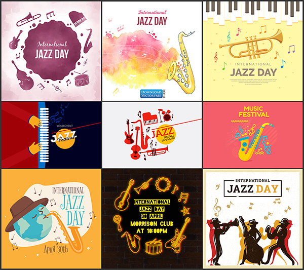 9-mau-nen-do-hoa-mung-ngay-hoi-am-nhac-hang-nam-jazz-music-vector-8781