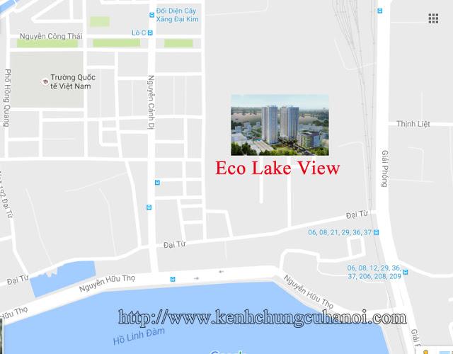 Eco Lake View sở hữu vị trí rất thuận lợi về mặt giao thông