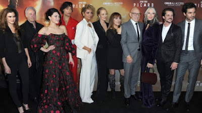 S.T. Picard castmates in attendance with Patrick Stewart included Jeri Ryan, Johnathan Del Arco, Brent Spiner, Marina Sirtis, Michelle Hurd, Alison Pill, Isa Briones, Santiago Cabrera, and Evan Evagora at the London premiere