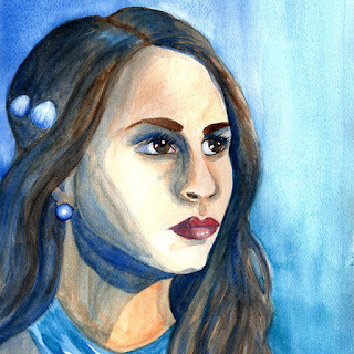 Spencer PLL watercolor portrait painting