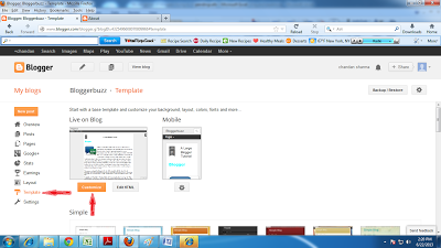 learn how to customiz blog default template