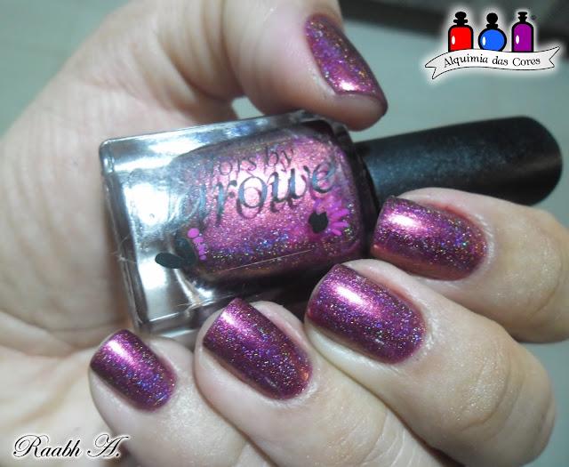 Unhas, Esmalte, Unhas vermelhas, Esmalte Multichrome, Holográfico, Colors by Llarowe, Red Nails, Holographic, Nail Polish, Esmalte Indie