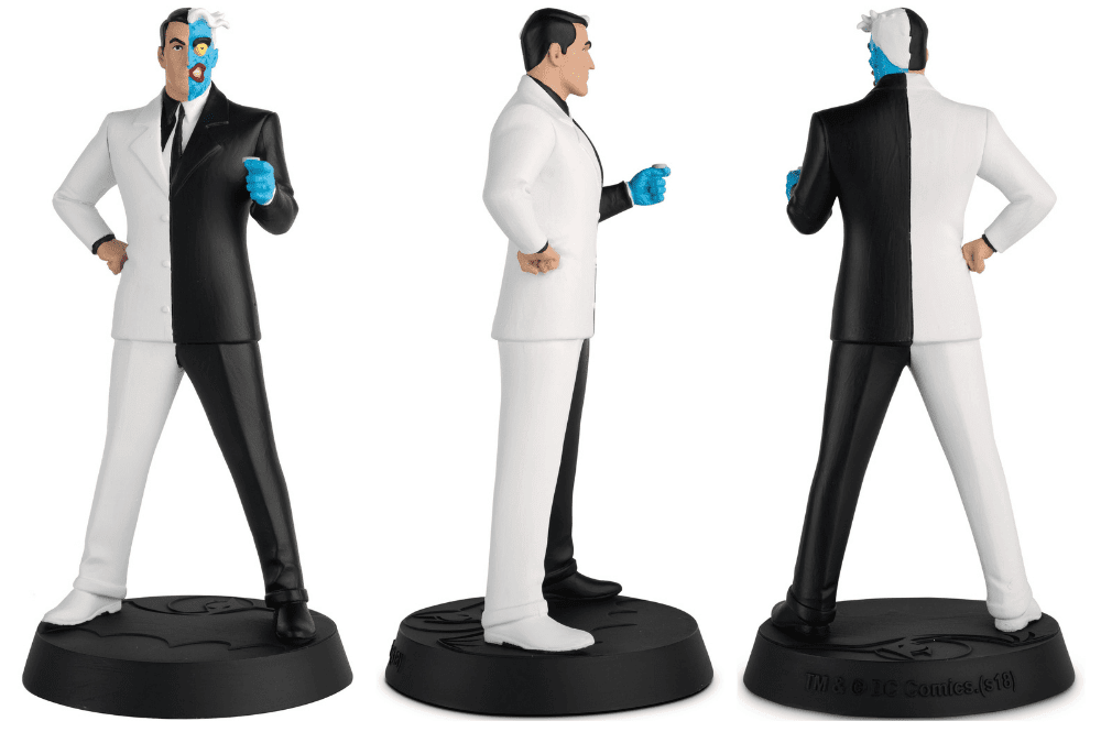 batman the animated series figurines collection, colección de figuras batman la serie animada, eaglemoss collections, hero collector, two-face figurine, dos caras