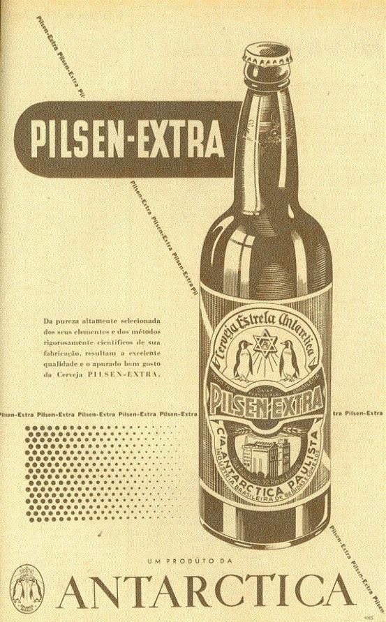 Propaganda antiga da Cerveja Antarctica veiculada em 1948