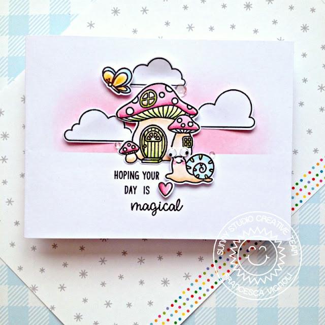 Sunny Studio Stamps: Garden Fairy Spring Shower Birthday Card by Franci Vignoli