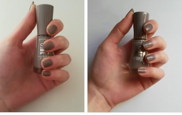So laque glossy bourjois swatch taupe modèle