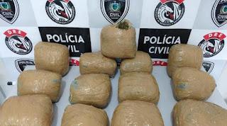 Operação prende dois homens e apreende 20 quilos de drogas na Paraíba