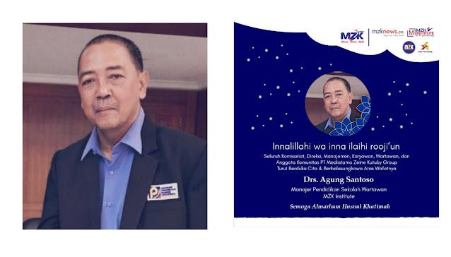 Kabar Duka dari Kepergian Manajer Pendidikan MZK Institute Agung Santoso