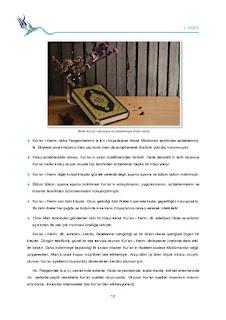 9. Sınıf Kuranı Kerim Ders Kitabı Cevapları Tutku Yayınları Sayfa 12