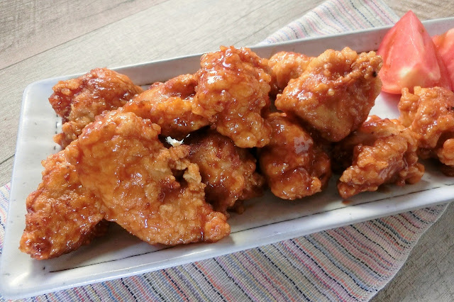 甘酢たれづけの鶏から揚げ