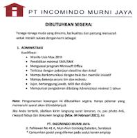 Karir Surabaya di PT. Incomindo Murni Jaya Februari 2021