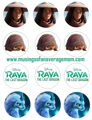 Free Raya and the last dragon birthday printables