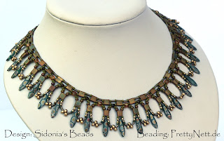 "Necklace ""Ray of light"" - beaded by PrettyNett.de"