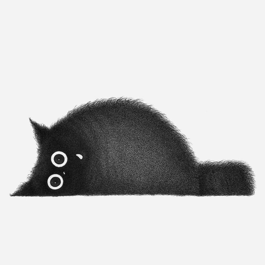 11-Cats-are-strange-Luis-Coelho-www-designstack-co
