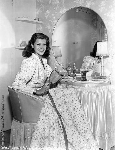 Rita Hayworth at Dressing Table
