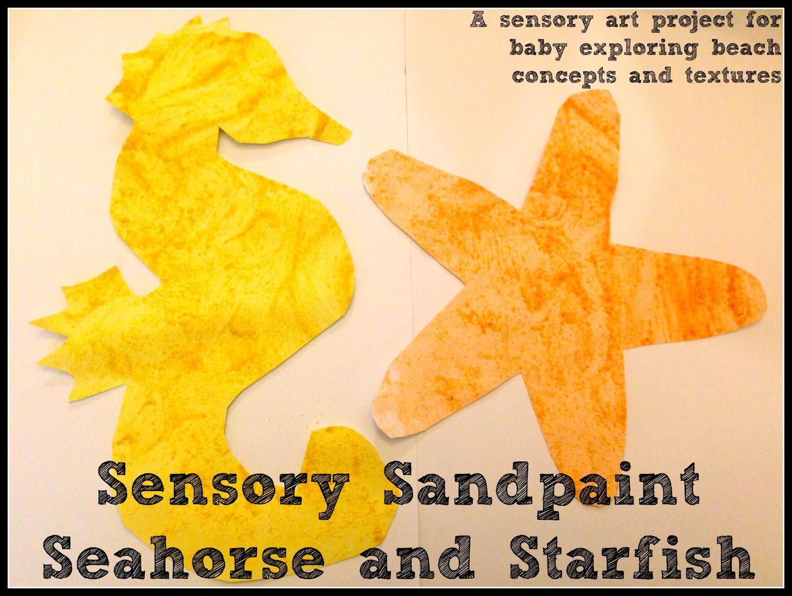 House Of Burke Sensory Sandpaint Seahorse And Starfish