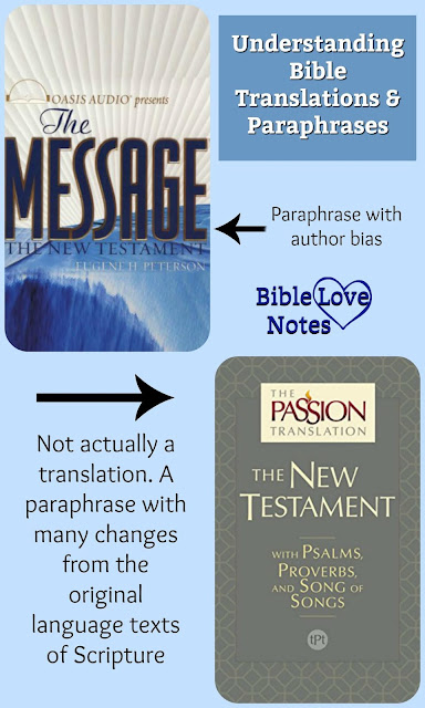 "This article expresses concerns with The Message and The Passion Translation but recommends the use of other legitimate translations of Scripture, refuting the ""KJV only"" teaching.  #BibleLoveNotes #Bible"