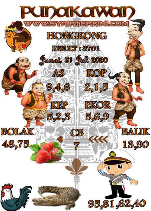 Kode syair Hongkong Jumat 31 Juli 2020 202