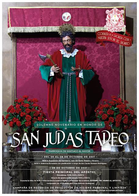 Boletín y cartel de la Novena a San Judas Tadeo