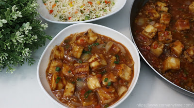 Paneer  Manchurian (Without deep frying)