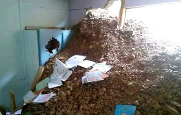 مدرسة ابتدائية بتارودانت تنجو من فاجعة بعد انهيار جزئي لسفح جبلي