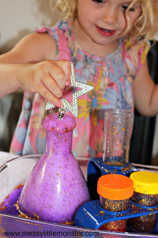 Baking soda and vinegar magic potion - cool science experiments