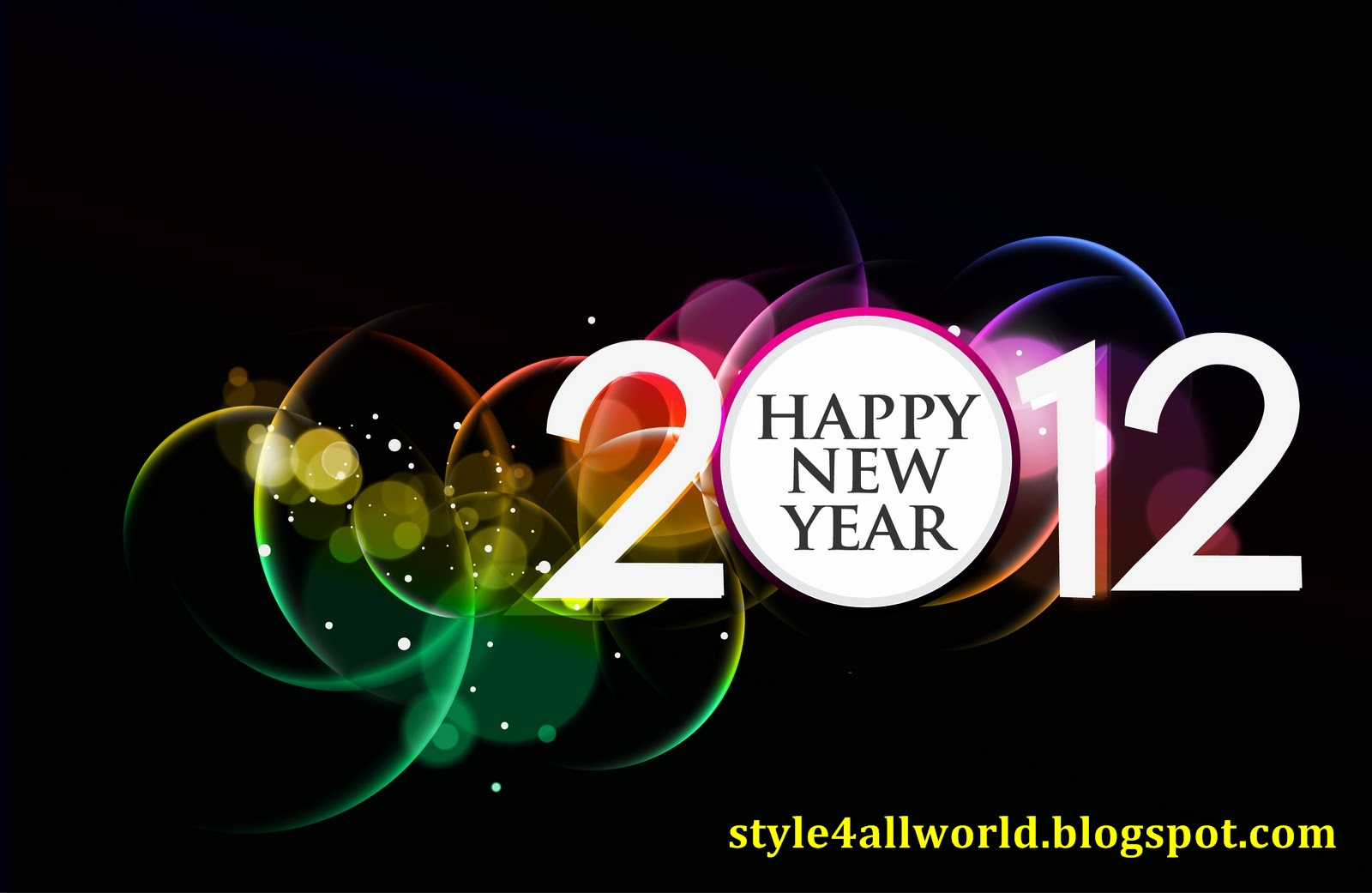 Happy New Year Greetings Wallpapers 2012 Best 2012 New Year Wallpaper