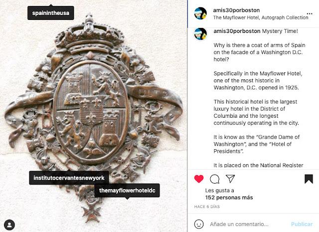 Captura de Pantalla de la Cuenta del Blog en Instagram