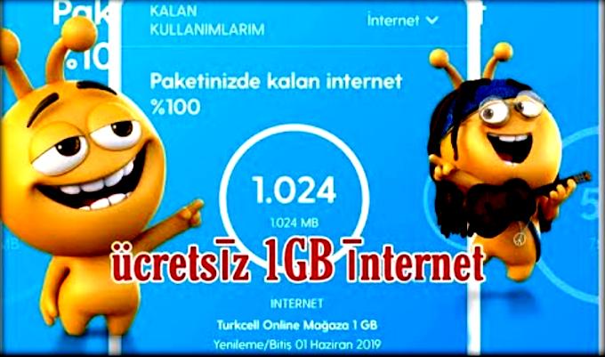 Turkcell Bedava İnternet Hediye Hilesi Sen Yap Diye Günlük 1 GB
